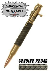 Bolt Action 7mm Pencil In Rifle Case With Rebar Body Antique Brass 285 Ebay