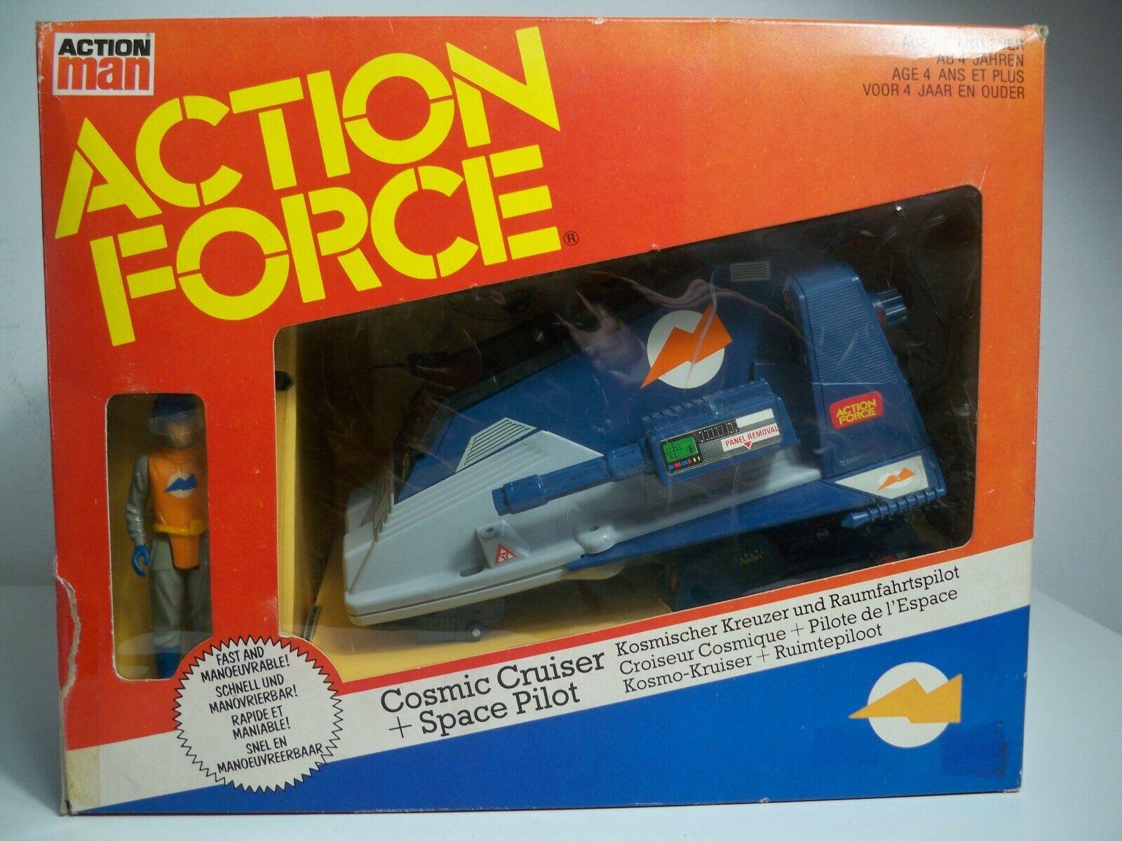 K1994231 COSMIC CRUISER + SPACE PILOT W BOX COMPLETE UK ACTION FORCE MAN GI JOE