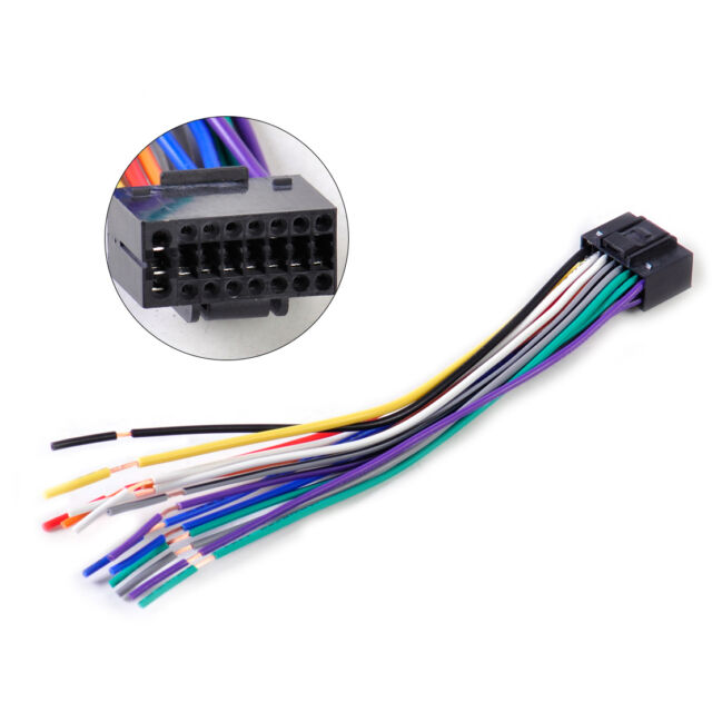 16pin car radio stereo wire harness install plug cable connector fit rh ebay com car radio wiring connectors car radio wiring connectors