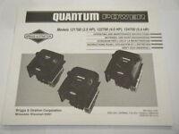 Briggs And Stratton Quantum Power Operating And Maintenance Instructions
