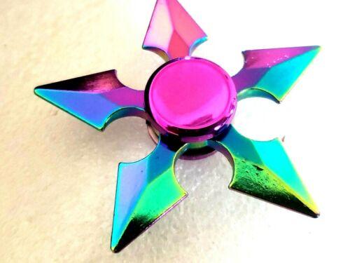 Rainbow Fidget Spinner Arrows Toy All Metal Adults Kids Boys Girls ADHD Focus