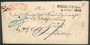 Mecklenburg-Strelitz-Auslandspaketbegleitbrief-Friedland-1830-Anclam-Buetow