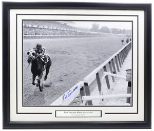 Ron-Turcotte-Signed-Framed-16x20-Secretariat-1973-Belmont-Racing-Photo-JSA-ITP
