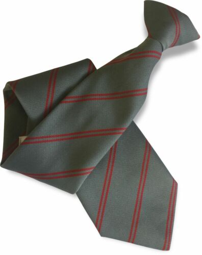 Slate Grey Clip On Tie Clipper with Double Red réparti