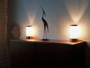 1 Von 2 Tischlampen Nachttischlampen 70er True Vintage Lampe Tabel