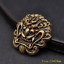10X-33mm-Solid-Brass-Chinese-Dragon-Head-Conchos-Screw-Back-Leather-Craft-Decor miniature 1