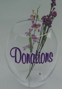 Make Your Own Donations Or Tips Jar Vinyl Sticker Decal Ebay