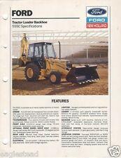 Equipment Brochure - Ford - 555C - Tractor Loader Backhoe Specs - 1989 (E1151)