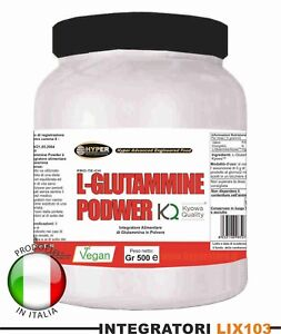 GLUTAMMINA-POLVERE-KYOWA-gr-1000-Aminoacidi-Recupero-Muscolare-Post-Workout