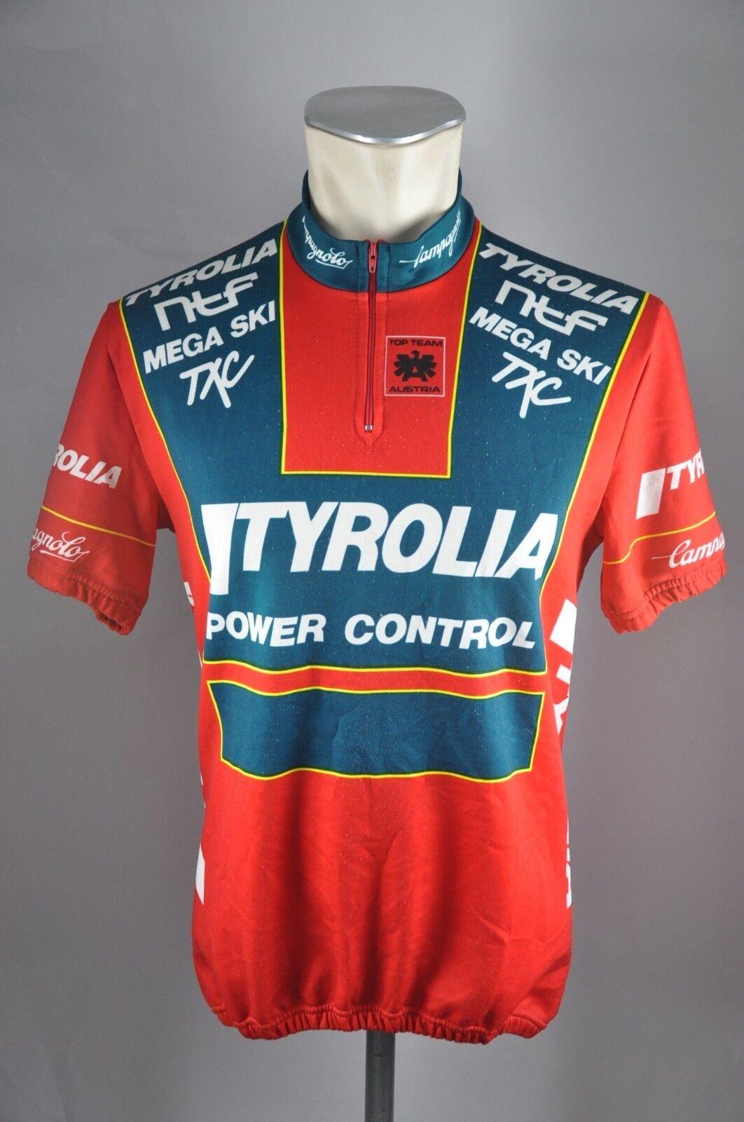 Vintage Tyrolia Team Austria jersey bike Gr. L BW 52cm cycling Rad Trikot KE6