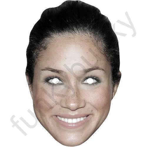 Meghan Markle Version 2 Royal Actress Celebrity Card Mask Masks Are Pre-Cut!