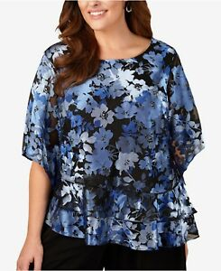 081f974ab44b57 Image is loading ALEX-EVENINGS-Plus-Size-1X-3X-Floral-Print-