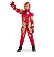 Disney Store Deluxe Iron Man Super Hero Light Up Costume Boys 5/6 7/8 11/12 13