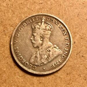 1928 M Australia Florin Two Shillings Silver Coin Rare KM27 XF
