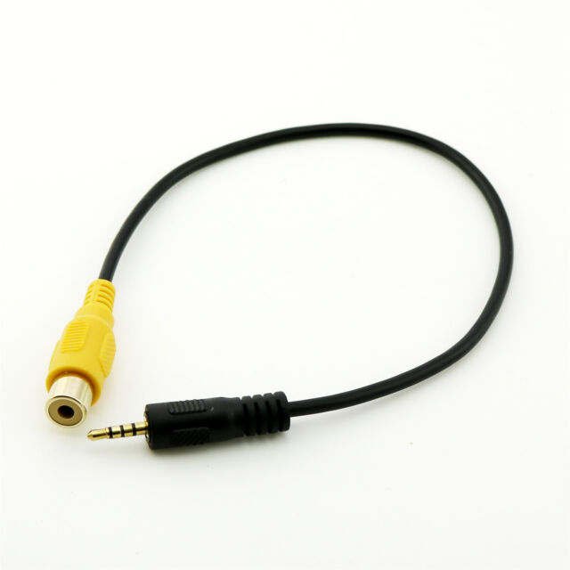 30cm Rca To Aux 2 5mm Av In Adapter Cable For Car Rear View Parking
