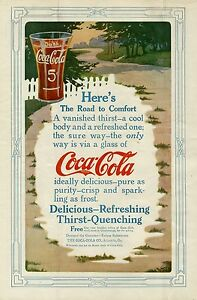 COCA-COLA-HERE-039-S-THE-ROAD-TO-COMFORT-DELICIOUS-REFRESHING-THIRST-QUENCHING-DRINK