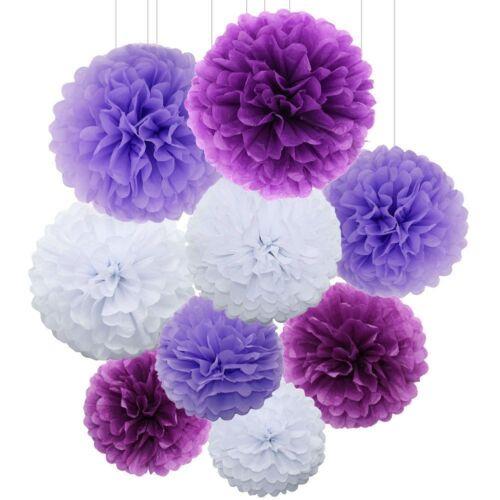 Tissue Paper Pompoms Pom Poms Flower Balls Fluffy Wedding Party Decoration