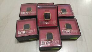 Pebble-Time-Steel-Good-Condition-38mm-Stainless-Steel-Red