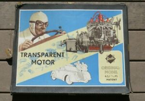 GESCHA-30-s-40-S-GERMANY-BATTERY-OPERATED-TIN-TOY-TRANSPARENT-MOTOR-Engine