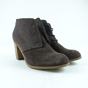 8e55b0504 TOMS Women's Lunata Lace Up Booties Brown Suede Size 6 | eBay