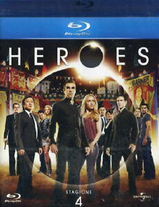 blu-ray-no-dvd-nuovo-HEROES-STAGIONE-4-4-Dischi-con-Jack-Coleman-Vers-italy