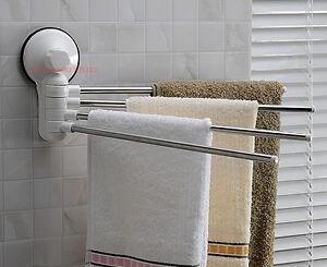 Porta asciugamani salviette attacco ventosa piastrelle vetro bagno cucina lavabo ebay - Porta asciugamani da bagno ...