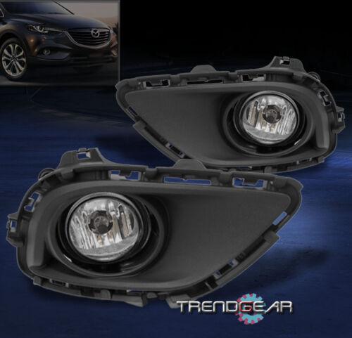 2013 2014 2015 MAZDA CX-9 FRONT LOWER DRIVING FOG LIGHT CHROME W//HARNESS SET NEW