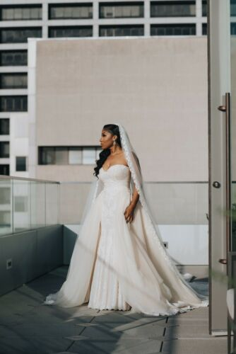 Galia Lahav Wedding Dress + Veil + Overskirt