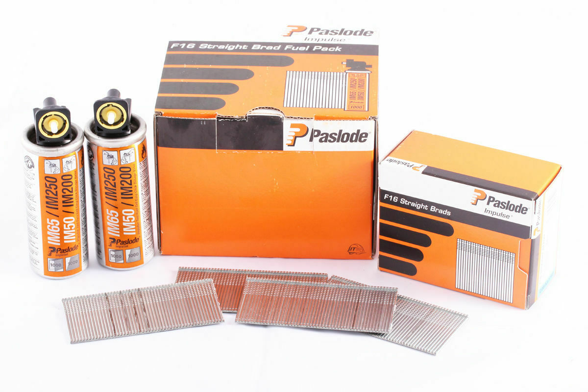 Paslode 141234 IM350 3.1 mm x 90 mm GALV Ongles X 2200 et 2 piles à combustible