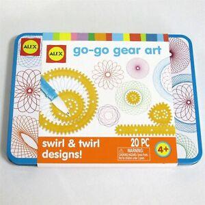 Alex Go Go Gear Art 20 Piece Travel Tin 9 Gears Pen Paper Brand New