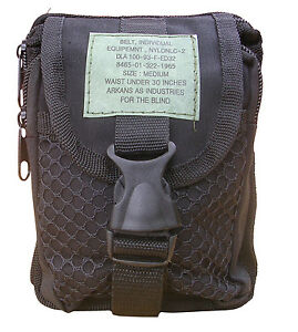 Army-Military-Combat-Utility-Zip-Pouch-Bag-Phone-Camera-Ammo-Travel-Black
