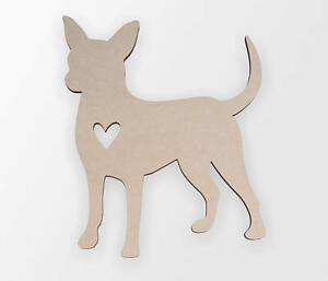 Wooden shape Chihuahua Love Cutout, Wooden Cut Out, Wall Art, Home Decor