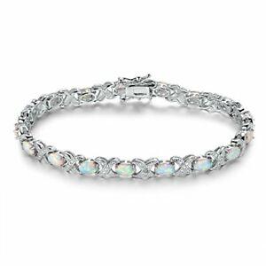 SGS-International-White-Rhodium-Plated-White-Fire-Opal-amp-Diamond-Accent-Tenni
