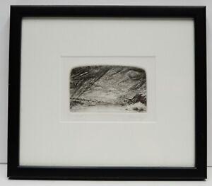 Pacific Northwest Artist Thomas Tom Wood Bellingham Washington Print Etching Vtg
