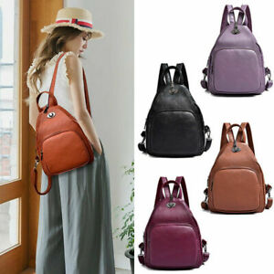 Convertible-Faux-Leather-Small-Backpack-Rucksack-Daypack-Sling-bag-Purse-Cute