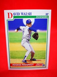 Score 1991 carte card Baseball US NM+/M RC Los Angeles Dodgers #351 Dave Walsh
