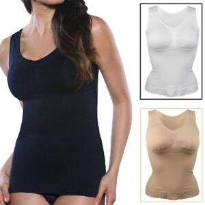 36f08afdd3 Image is loading Women-Body-Shaper-Genie-Camisole-Shapewear-Tank-Top-