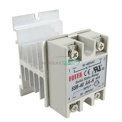 Solid State Relay SSR-40AA 40A AC Relais 80-250V TO 24-380VAC AC PiYRDE
