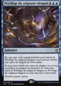 MTG-Magic-Les-dragon-de-Tarkir-Privilege-du-seigneur-dragon-Rare-VF