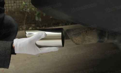 Silver Car Exhaust Muffler Tip Tail Pipe Trim for Toyota RAV4 2013-2015 #2021