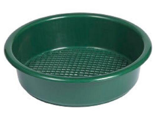 GRANDE IN PLASTICA ROTONDO VERDE GIARDINO Setaccio//riddle per terreno Compost /&