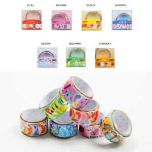 BTS-BT21-Character-Flake-MASKING-TAPE-OFFICIAL-Merchandise-Tracking-Number