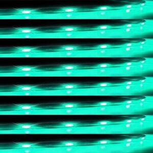 Lot8-Green-15-LED-30CM-Car-Grill-Flexible-Waterproof-Light-Strip-SMD-12V-Sales