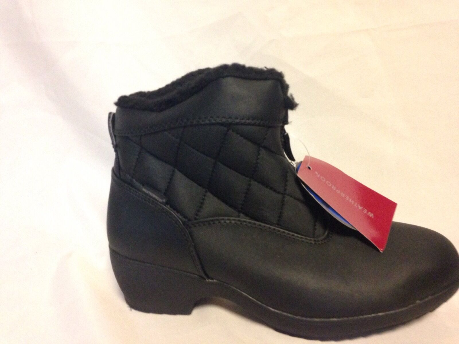 Weatherproof Lori Zip Front Cold Weathe Boot 8 M M M Nero  New w/out Box bcd847