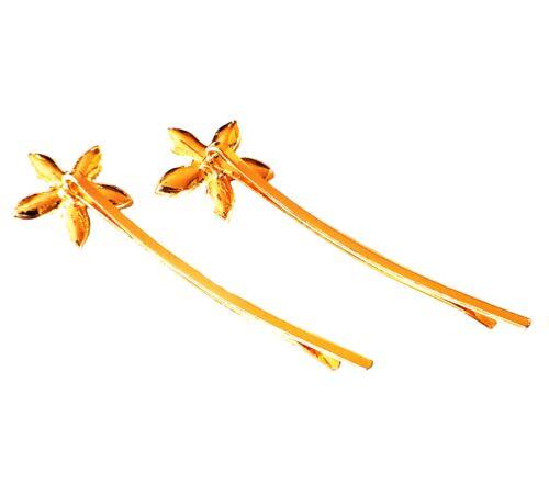 USA SELLER Bobby Pin Rhinestone Crystal Hairclip Hairpin Bridal Flower Brown A1