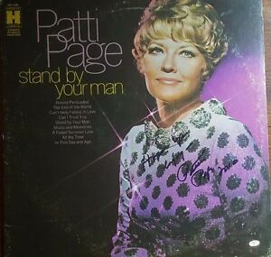 """VERY EARLY! """"Patti Page"""" Hand Signed Album Page Mead Chadsky Authentication"""
