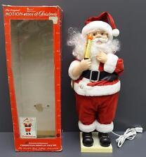 """Vintage Telco Animated & Illuminated 24"""" Christmas Santa Motionette Figure"""