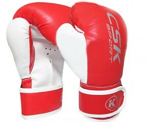 Sporting Goods Csk Pu Kids Training Mma Boxing Sparring Gloves Unisize Red New