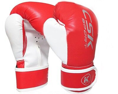 Other Combat Sport Supplies Sporting Goods Csk Pu Kids Training Mma Boxing Sparring Gloves Unisize Red New