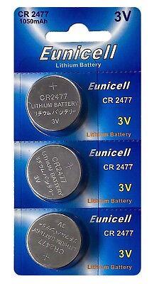 ☀️☀️☀️☀️☀️  3 x CR2477 3V Lithium Knopfzelle 1050 mAh Euni 1 Card a 3 Batterien